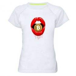 Жіноча спортивна футболка Bitcoin in the teeth