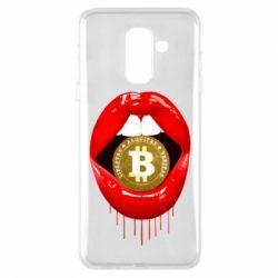 Чохол для Samsung A6+ 2018 Bitcoin in the teeth