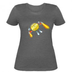 Жіноча футболка Bitcoin into space