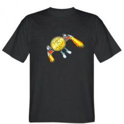 Чоловіча футболка Bitcoin into space