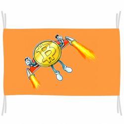 Прапор Bitcoin into space