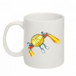Кружка 320ml Bitcoin into space