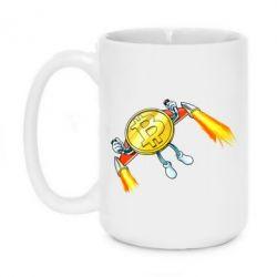 Кружка 420ml Bitcoin into space