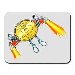 Килимок для миші Bitcoin into space