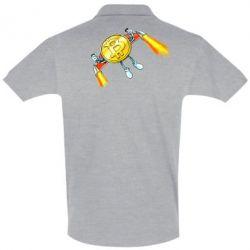 Футболка Поло Bitcoin into space