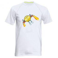 Чоловіча спортивна футболка Bitcoin into space