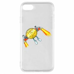 Чохол для iPhone 7 Bitcoin into space