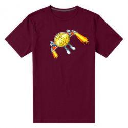 Чоловіча стрейчева футболка Bitcoin into space