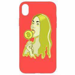 Чехол для iPhone XR Bitcoin Lollipop
