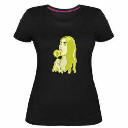 Женская стрейчевая футболка Bitcoin Lollipop