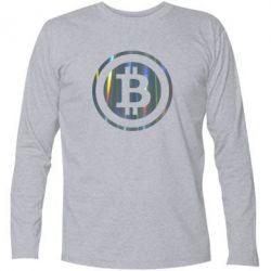 Футболка с длинным рукавом Bitcoin
