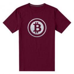 Мужская стрейчевая футболка Bitcoin