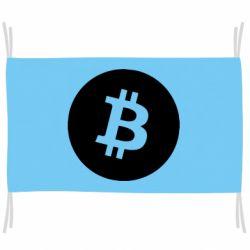 Прапор Біткоин лого