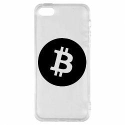Чохол для iphone 5/5S/SE Біткоин лого
