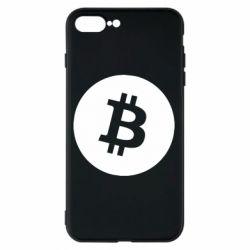 Чохол для iPhone 8 Plus Біткоин лого