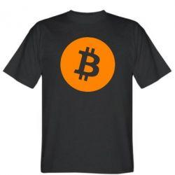 Чоловіча футболка Біткоин лого