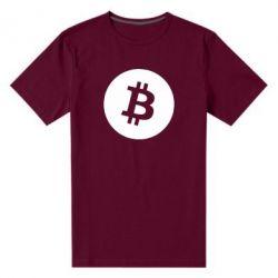Чоловіча стрейчева футболка Біткоин лого