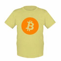 Дитяча футболка Біткоин лого