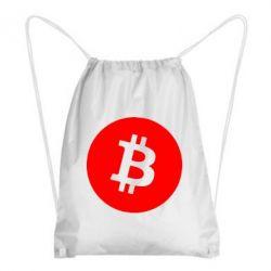 Рюкзак-мішок Біткоин лого