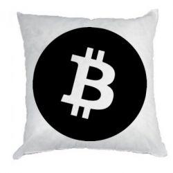 Подушка Біткоин лого
