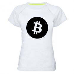 Жіноча спортивна футболка Біткоин лого