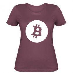 Жіноча футболка Біткоин лого