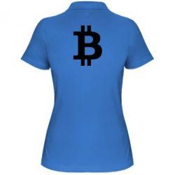 Купить Женская футболка поло Биткоин, FatLine