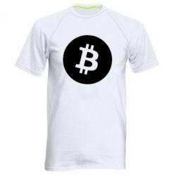 Чоловіча спортивна футболка Біткоин лого