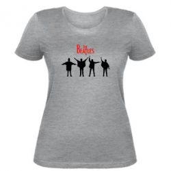 Женская футболка Битлы