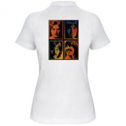 Женская футболка поло Битлы - FatLine