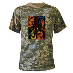 Камуфляжная футболка Битлы