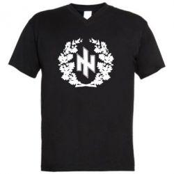 Мужская футболка  с V-образным вырезом Бій під Крутами