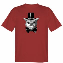Чоловіча футболка Black and white cat intellectual