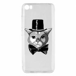 Чехол для Xiaomi Mi5/Mi5 Pro Black and white cat intellectual