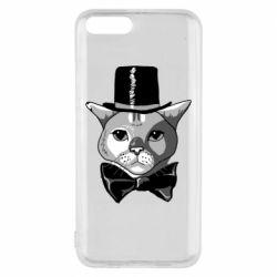 Чехол для Xiaomi Mi6 Black and white cat intellectual
