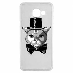 Чохол для Samsung A3 2016 Black and white cat intellectual