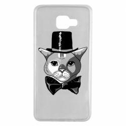 Чохол для Samsung A7 2016 Black and white cat intellectual