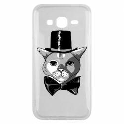 Чохол для Samsung J5 2015 Black and white cat intellectual