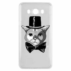 Чохол для Samsung J7 2016 Black and white cat intellectual