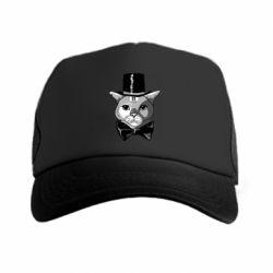 Кепка-тракер Black and white cat intellectual