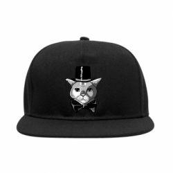 Снепбек Black and white cat intellectual
