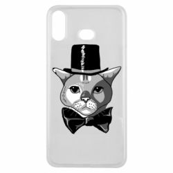 Чехол для Samsung A6s Black and white cat intellectual
