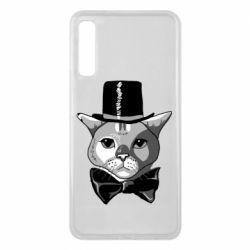 Чохол для Samsung A7 2018 Black and white cat intellectual