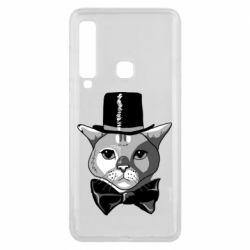 Чохол для Samsung A9 2018 Black and white cat intellectual