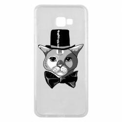 Чохол для Samsung J4 Plus 2018 Black and white cat intellectual