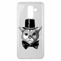 Чохол для Samsung J8 2018 Black and white cat intellectual