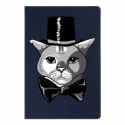 Блокнот А5 Black and white cat intellectual