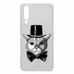 Чехол для Xiaomi Mi9 Black and white cat intellectual