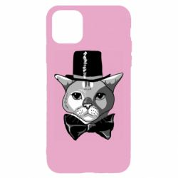 Чохол для iPhone 11 Black and white cat intellectual