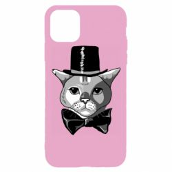Чохол для iPhone 11 Pro Black and white cat intellectual